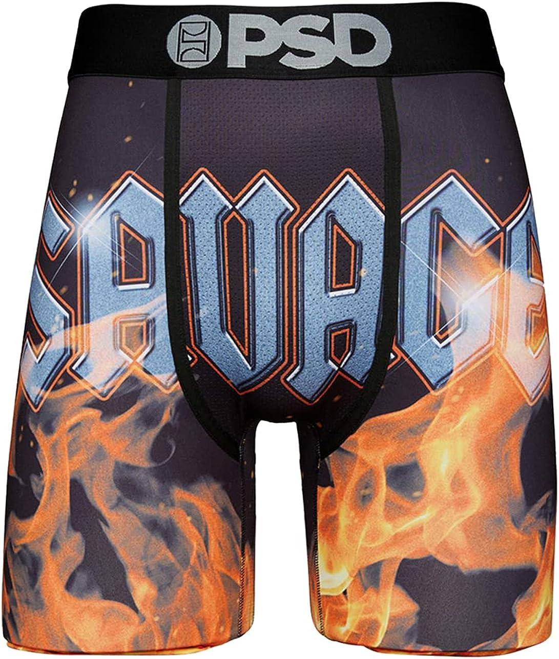 PSD Underwear Men's Savage Flames Printed Boxer Brief