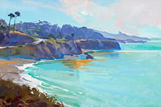 Posterazzi Collection Mendocino Overlook Poster Print by Marcia Burtt (24 x 36)