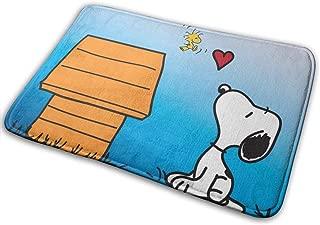 JJHBGFVB Snoopy Love-Indoor Outdoor Entrance Rug Floor Mats Shoe Scraper Anti-Skid 15.7x23.5 Inches