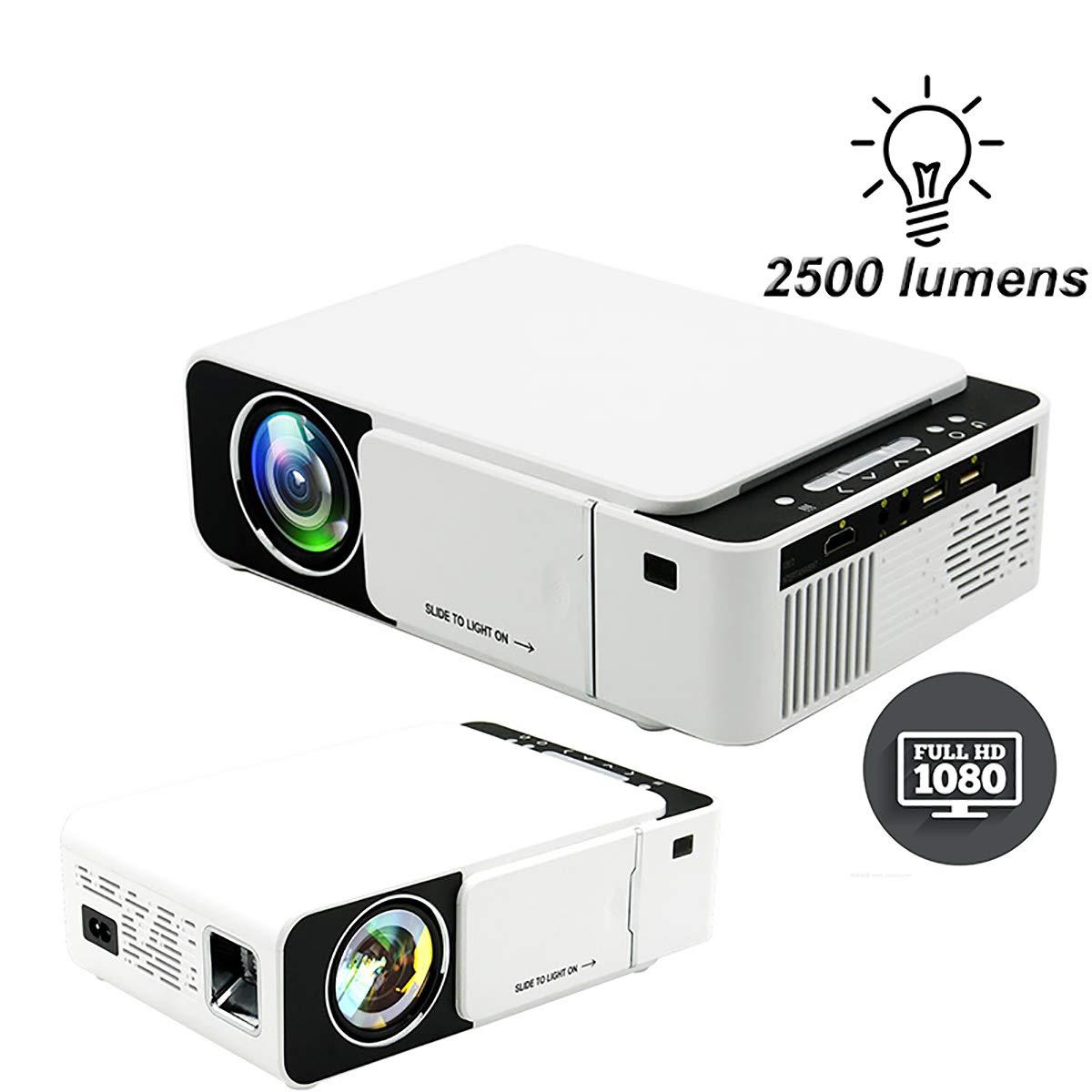 WXJHA HD LED proyector Smart 2500 lúmenes HDMI USB VGA AV Beamer ...