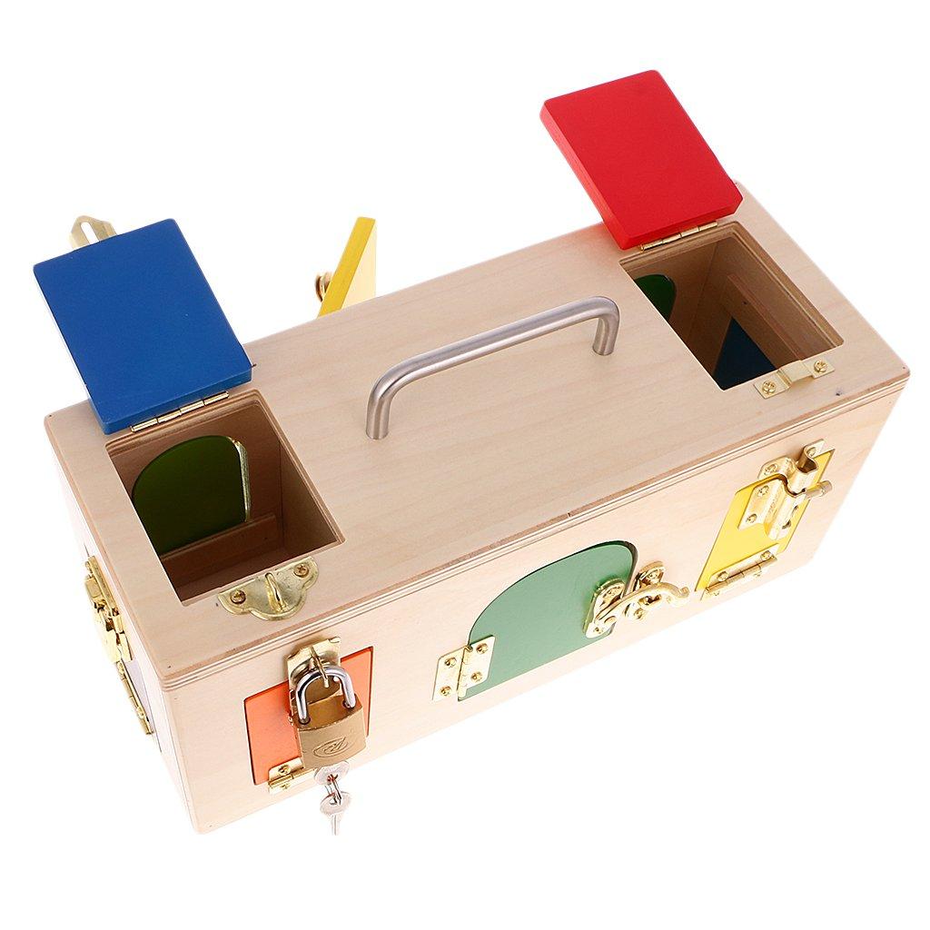 Sharplace Juguetes Montessori de Madera - Caja de Cerradura Y ...