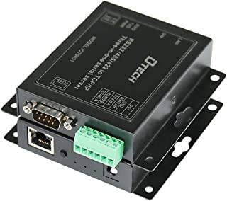 DTECH Serial to Ethernet Converter Adapter RS232 RS422 RS485 to TCP IP Device Server Supports DHCP DNS Modbus 10/100M Powe...