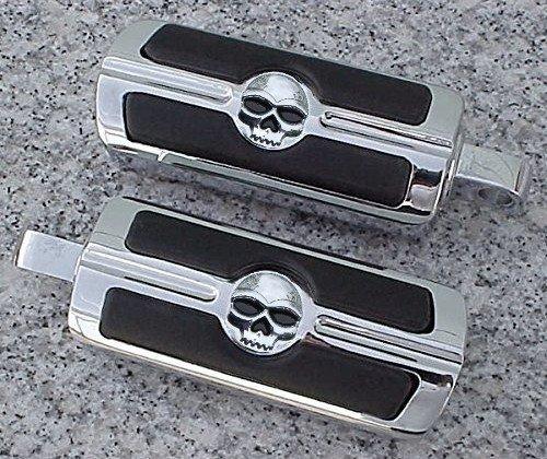i5 Chrome Skull Foot Pegs for Harley Davidson Softail Dyna Glide Sportster