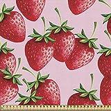 ABAKUHAUS rot Stoff als Meterware, Saftige Erdbeeren