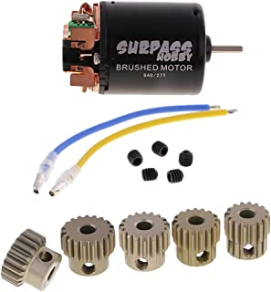Baoblaze 540 27T Brushed Motor + 48DP 3.175mm 16T-20T Pinion Motor Gears for 1/10 RC Car D90 SCX10 Axial