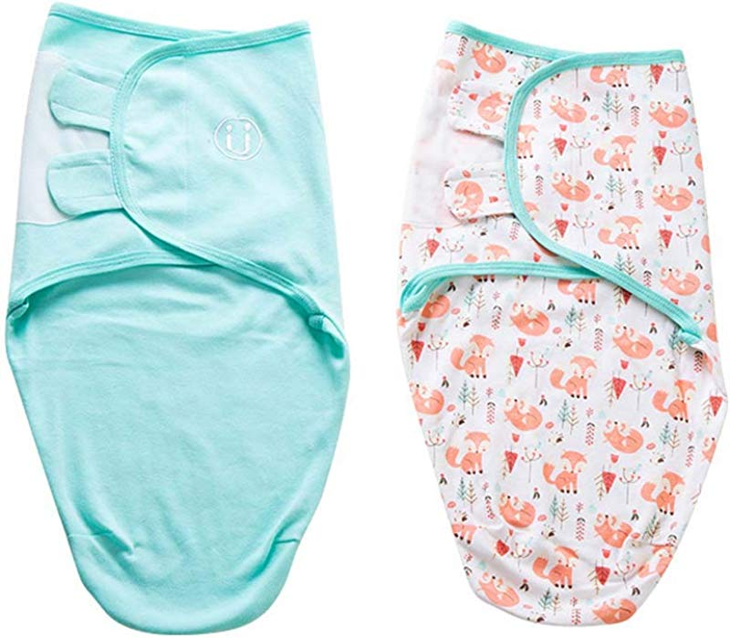 G BC Unisex Baby Sleepsack Swaddle Cotton Sleepsuits 2 Pack 0 7 Month Swaddlers Sleep Sack With Adjustable Wings F M