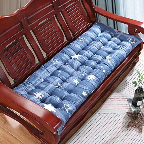 JYSSH Cojín De Cojín para Banco, Cojines para Sillas Largas y Suaves para Exteriores, Cojín De Metal o Madera para Patio, Cojín De 2/3 Plazas, Cojines para Sofá para Interiores,glitter-48X155cm