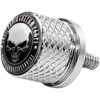 Scheletro dito medio Argento GUAIMI Vite del Bullone del sedile zigrinata in acciaio inossidabile con filettatura 1//4-20 per Harley Davidson