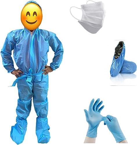 Go Klean ppekid912 PPE Kit for Kids & Minors (Age: 9-12) - Face Mask/Gloves/Head Cover/Shoe Cover/Bio Waste Bag Safet...