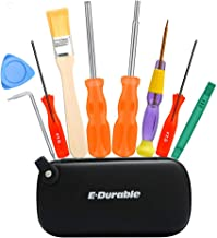 E·Durable Gamebit Set, 3.8mm and 4.5mm Security Screwdriver Game Bit Set for Nintendo Switch 3DS N64 Console Wii U Sega Master Genesis 32x, Game Cube Console,etc - Lifetime Warranty