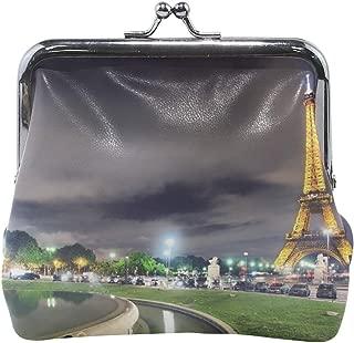 Your Home Coin Purse France Paris Eiffel Tower Light Night Hdr Print Wallet Exquisite Clasp Coin Purse Girls Women Clutch Handbag
