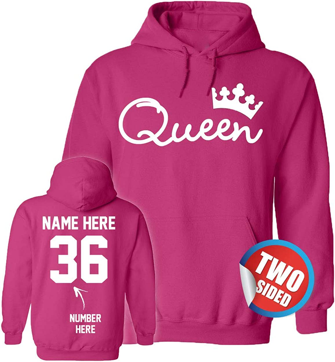 Gifts King Queen Year-end annual account Hoodies - Add Your Matching Name Sw Number Couple