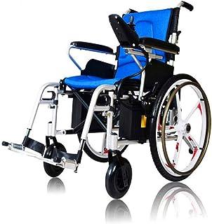 De peso ligero plegable sillas de ruedas eléctrica Doble Deluxe plegable de alimentación compacto Movilidad for sillas de ruedas Aid, ligero plegable Llevar Silla de ruedas eléctrica, silla de ruedas