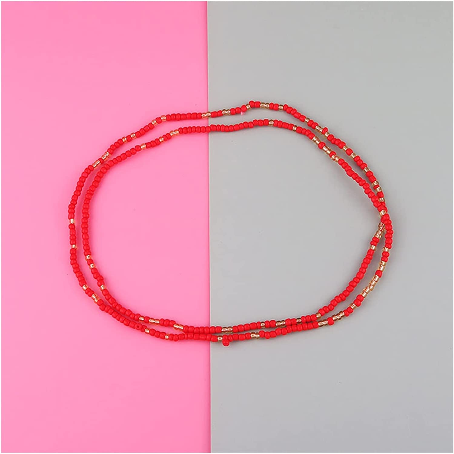 ZHU-CL Bikini Body Chain Color Rice Super Special SALE held Women Max 43% OFF H for Waist Bead