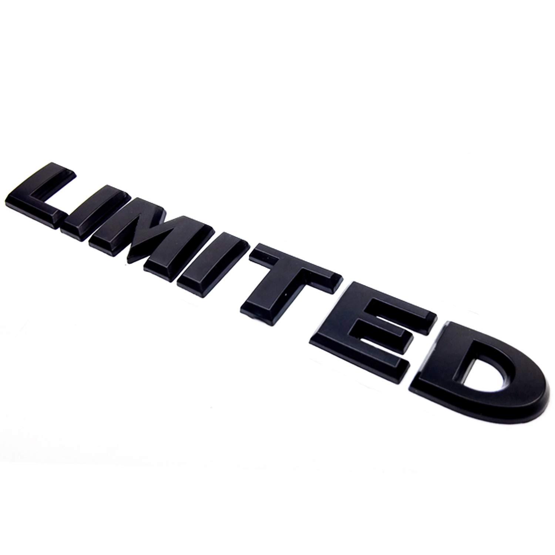 HUAYT Matt Black Limited Emblem,1Pack Universal Chrome Aluminum Alloy Badges Decal Adhesive Tape Suit for Grand Cherokee Wrangler Compass Auto Sticker