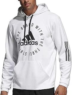 adidas hoodie mens white