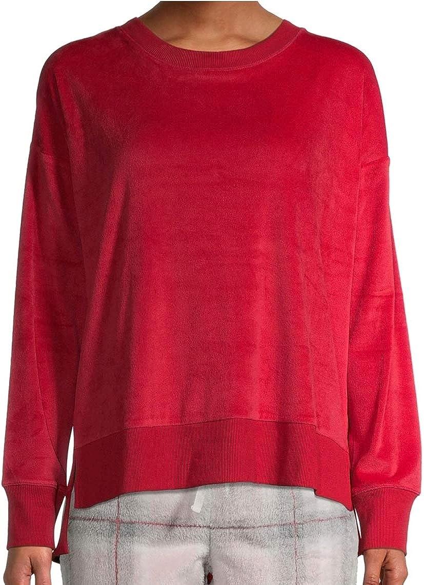 Brilliant Red Velour Sleep Top