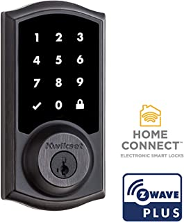Kwikset 99160-021 SmartCode 916 Traditional Smart Touchscreen Deadbolt Door Lock with SmartKey Security and Z-Wave Plus, Venetian Bronze