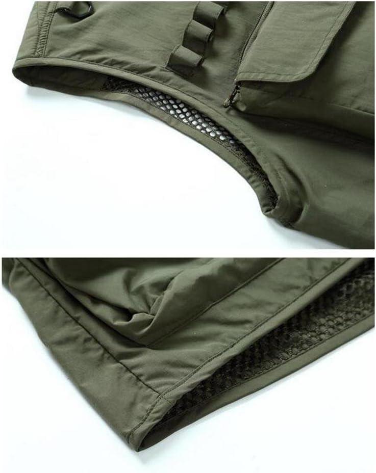 YANXH Mens Multi Pocket Gilet Outdoor Leisure Camping Fishing Photography Vest, Dark Blue, l
