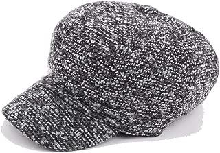 HaiNing Zheng Painter Hat Beret Cap Winter Autumn Wool Ladies Cotton Men's Knitted Wool Octagonal Hat Warm Color