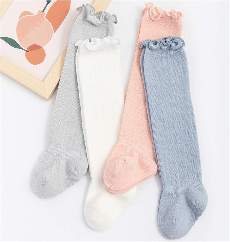 Infant Newborn Toddler Knee High Ruffled Stockings Baby Girls Boys Long Socks