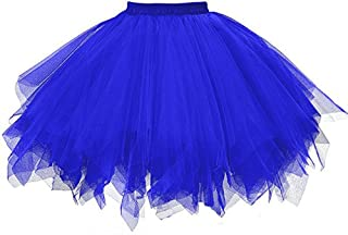 Yowablo Damen Petticoat Retro Tutu Tüllrock Underskirt Unterrock Petticoat Rock Tutu