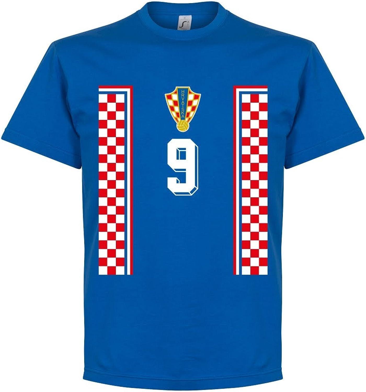Croatia 98 Retro Suker 9 Tee  Royal