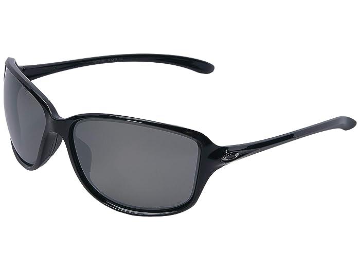 Oakley Cohort (Polished Black w/ Prizm Ruby Polarized) Plastic Frame Fashion Sunglasses