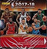NBA All teams 2017/18 Panini Basketball Sticker Refill Box (50 Count), Small, Black