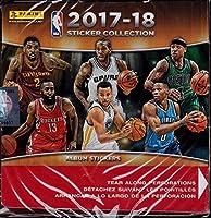 NBA 全チーム 2017/18 パニーニ バスケットボールステッカー 詰め替えボックス (50枚) Sサイズ ブラック