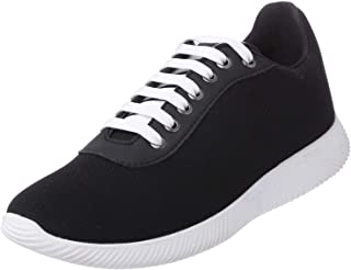 Salerno Textile Contrast Leather-Detail Lace-Up Fashion Sneakers for Men