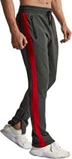 TBMPOY Men's Athletic Running Pants Joggers Workout Sweatpants with Zipper Pockets