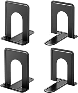 MaxGear Book Ends Universal Premium Bookends for Shelves, Non-Skid Bookend, Heavy Duty Metal Book End, Book Stopper for Bo...