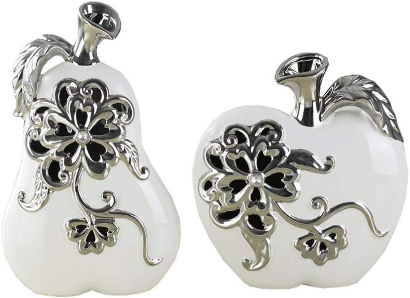 Selling JJSPP Modern Apple Pear Minimalist Ceramic Crafts Hollow Ranking TOP17 Flower