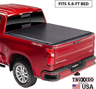 "TruXedo Lo Pro Soft Roll Up Truck Bed Tonneau Cover | 572401 | fits 2019-20 GMC Sierra & Chevrolet Silverado New Body Style 1500 5`8"" bed"