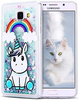 ea64c625055 SpiritSun Funda para Samsung Galaxy A5 2016, Silicona TPU Carcasa  Transparente Líquido Bumper Tapa Quicksand