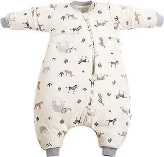 Maeau - Saco de dormir infantil de invierno con piernas para bebé, pijama de invierno para bebé, con mangas, de 18 a 36 meses, para recién nacidos