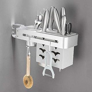 YJKDM Support à épices de Cuisine, Support de Rangement Mural Multifonctionnel, boîte de Rangement rotative pour ustensile...
