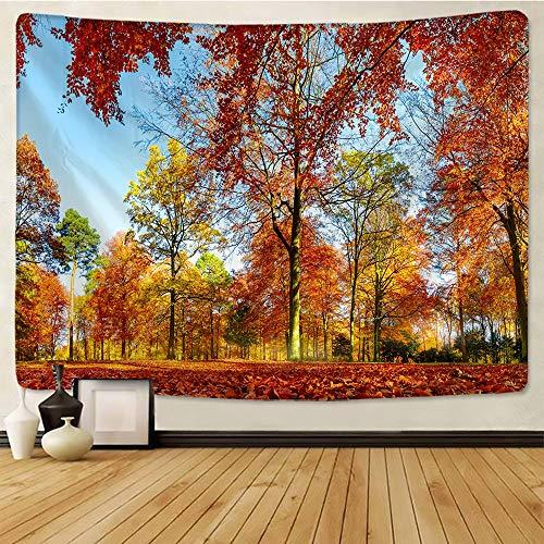 N / A �rbol de Arce en otoño Tapiz Arte Pared Alfombra decoración del hogar Boho Hippie Tapiz decoración del hogar Tapiz Tela de Fondo A1 150x150cm