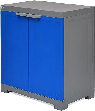 Nilkamal Freedom Mini Small Plastic Cabinet Blue/Grey