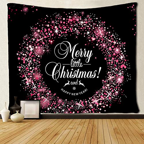 HiExotic Wandteppiche Art Tapestry Tablecloth Bedspread Christmas Invitation Card Witch Wreaths Tapestries Exotic Fantasy Eco-Friendly d¨¦COR Christmas Wall Hanging Throw Tablecloth 50X60 Inches