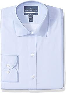 Amazon Brand - BUTTONED DOWN Men's Slim Fit Micro Twill Dress Shirt, Supima Cotton Non-Iron, Spread-Collar