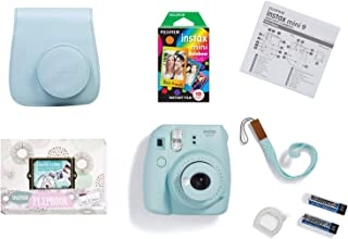 Fujifilm 101070000249 instax mini 9 camera package, Blue
