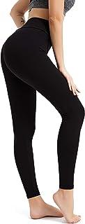 BESIDE STAR Damen Leggings 2 Stücke Knöchellang Blickdichte Leggins Lang Yoga Tights Viele Größen