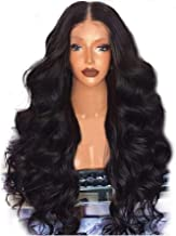 Wotryit Black Brazilian Remy Human Hair Body Wave Lace Front Human Hair Wigs For Luxury and Elegant Women(Length:65-68cm)