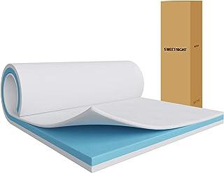 Sweetnight マットレス シングル 高反発マットレス 厚さ5cm 30D高密度 へったりにくい 低反発 二層構造 底付き感なし 布団マットレス 折りたたみ 快眠マット シングルマットレス