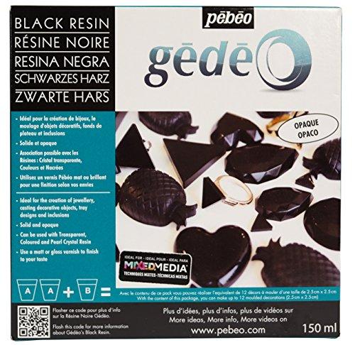 Pébéo 766157 Gedeo Gédéo Kit Resin Color 150 ML Schwarz-Epoxidharz Colorant