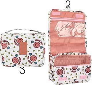 alwaysig Bolsa de Viaje Cosmético Maquillaje Portátil Multifunción, Bolso del almacenaje del almacenaje del bolso de la toalla con el gancho colgante para viajar (Rosa)