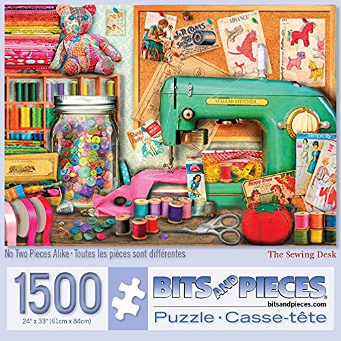 Bits and Pieces - Sewing Desk 1500 Piece Jigsaw Puzzles for Adults
