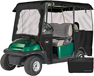 Greenline Drivable Golf Cart Enclosures by Eevelle, Heavy Duty 300D 4 Passenger Universal Fit